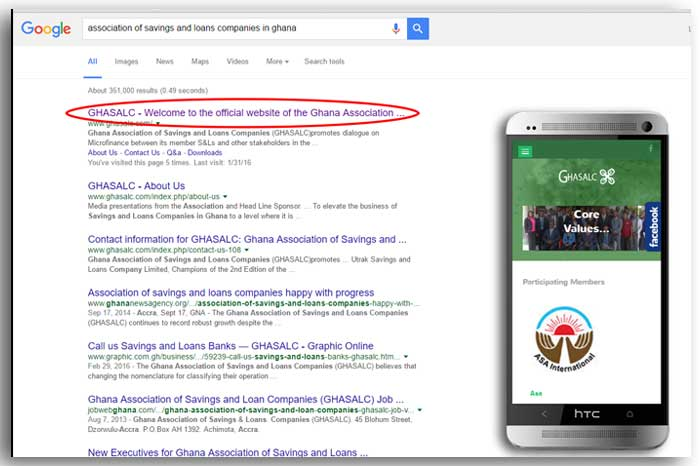 Google Search Engine Results 1st Page Ranking (Client)